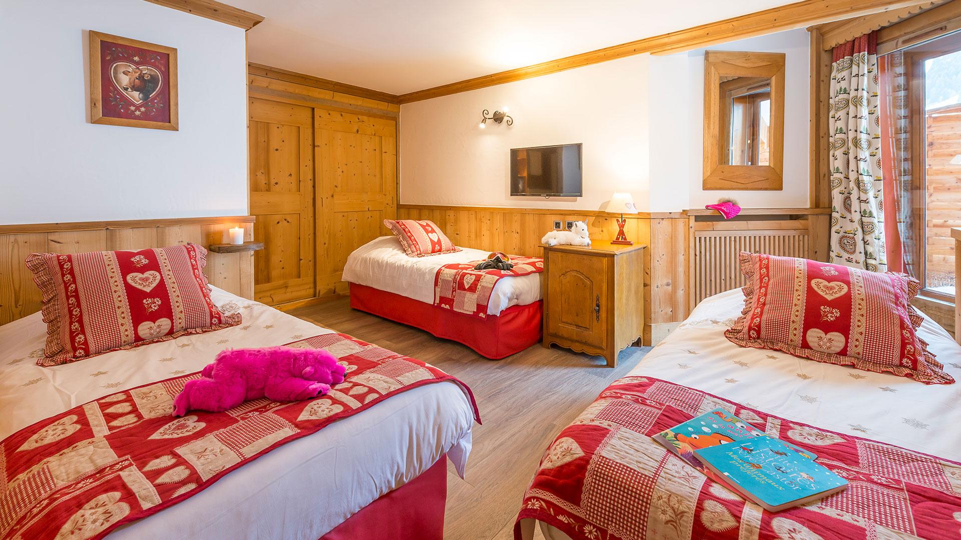 Grande chambre hôtel ski Méribel
