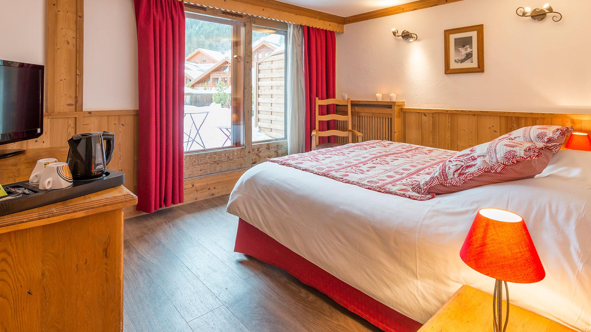 Chambre élégante chalet hôtel Méribel