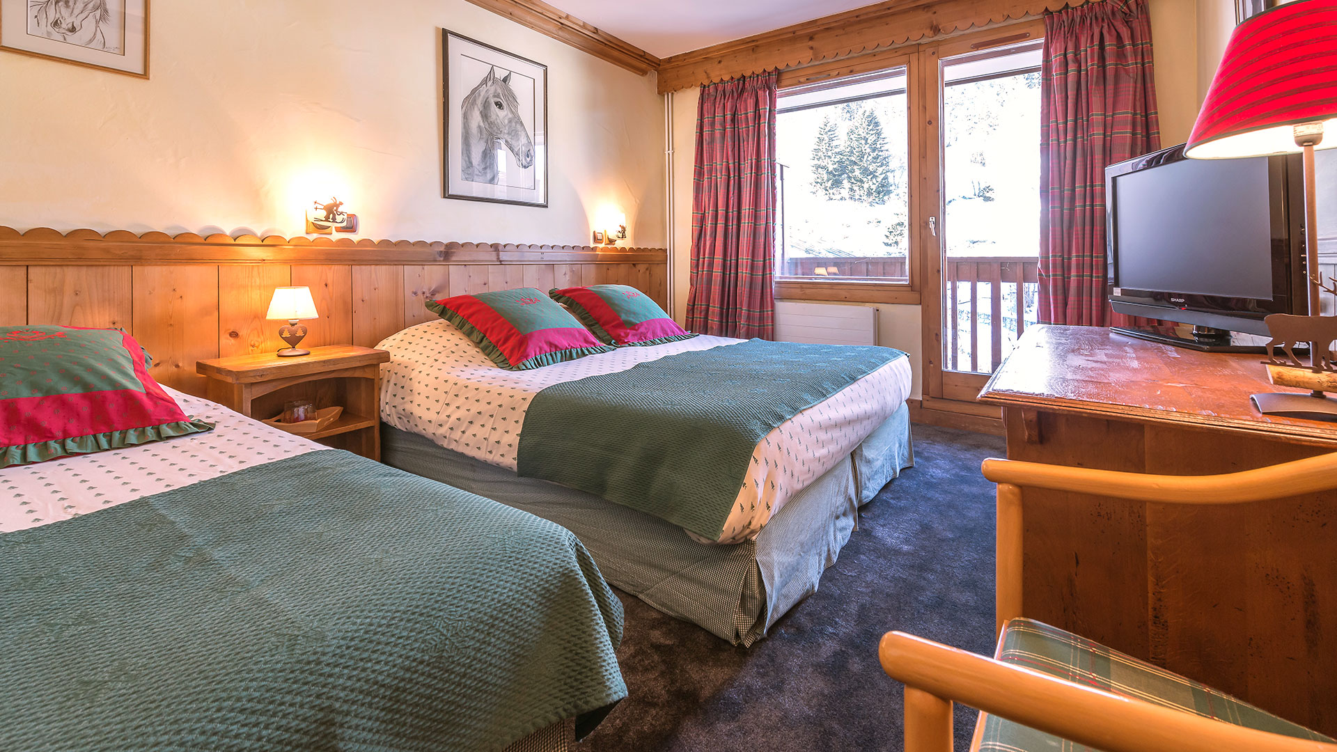 Chambre triple hôtel alpes