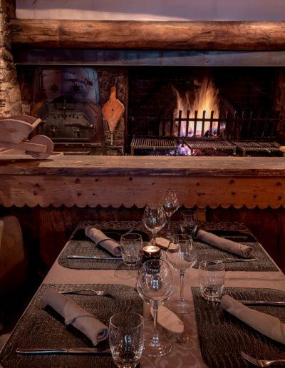 restaurant avec cheminée en Savoie