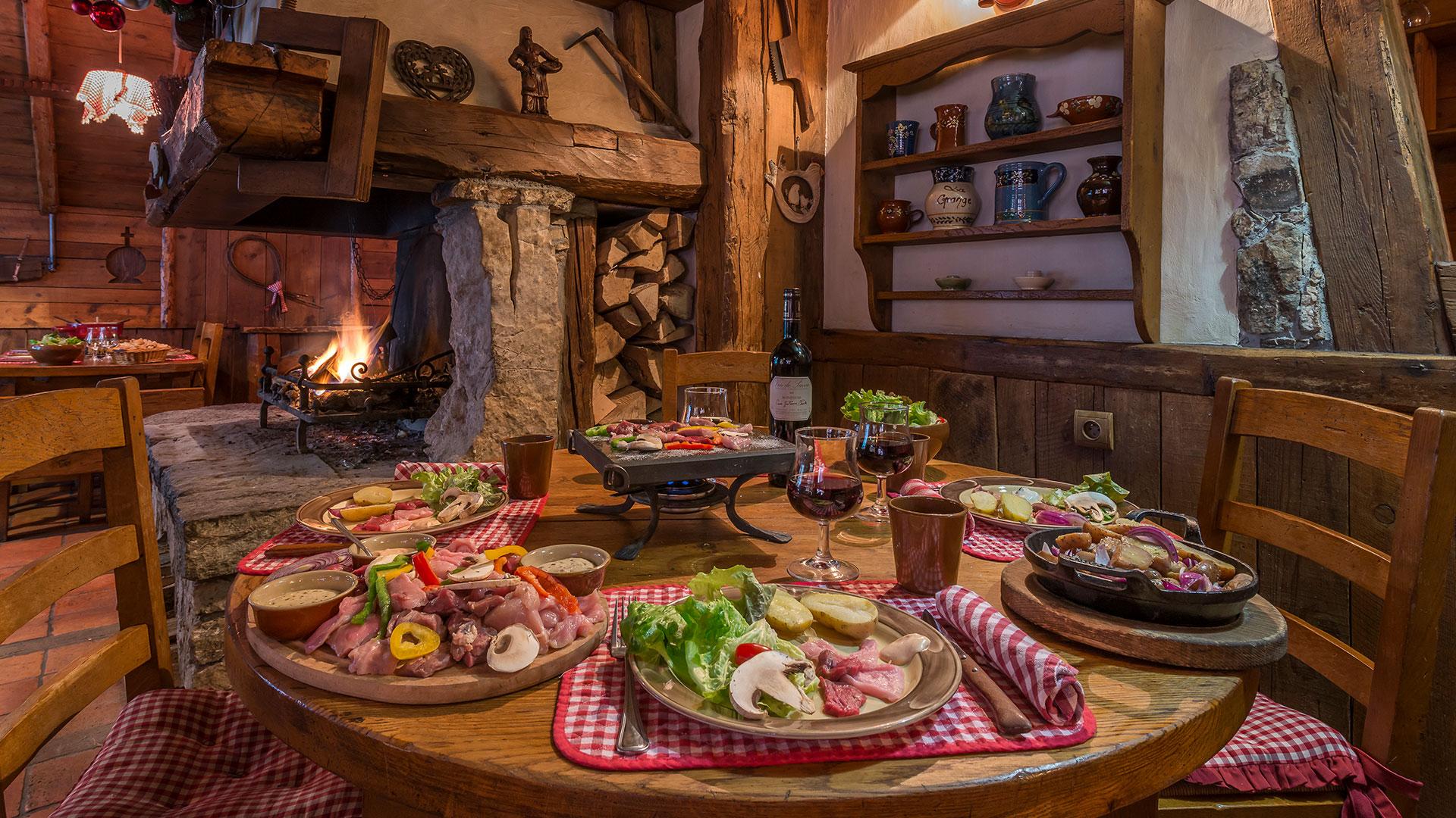 Grillades restaurant savoyard Savoie
