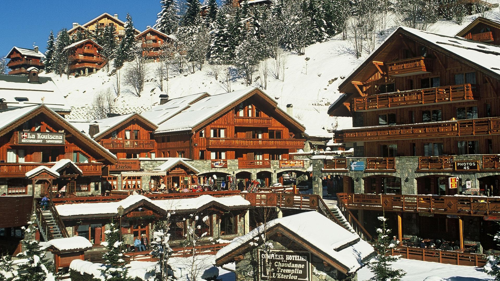 chalets en bois hotel alpes
